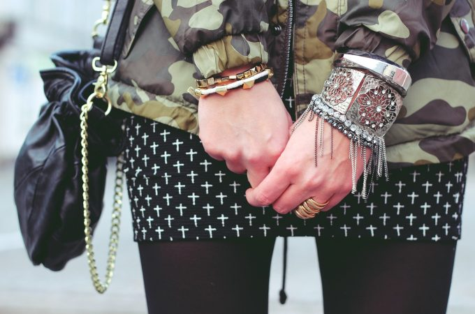 Wearing Silver Bangles, No Matter the Occasion